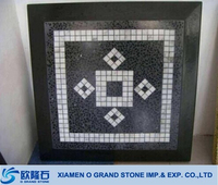 marble top dining table, black marble mosaic table top