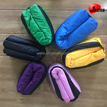 Summer Best Selling Portable New Fast Inflating Wholesale Air Bean Bag Chair Kids Sofa Pure Color Pattern