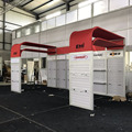Detian Offer 10x20ft aluminum extrusion profile exhibition booth with slatwall