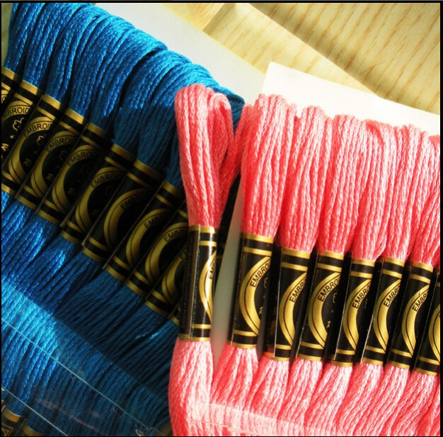 hand embroidery thread for cross stitch hand knitting thread each thread is 8m long, 6 strands
