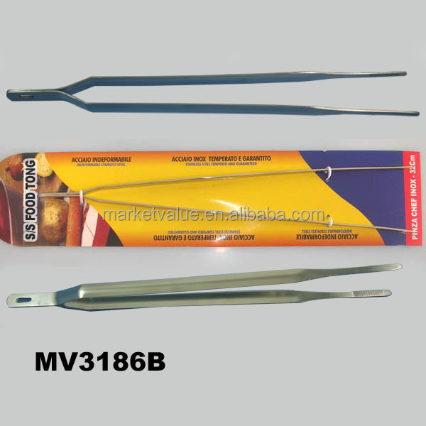 12.5-inch Stainless Steel Extra-Long Tweezer Tongs