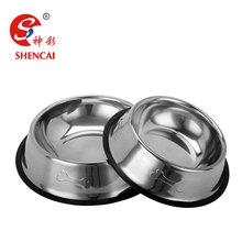 OEM service pet bowl wholesale stainless steel dog food bowl with custom logo