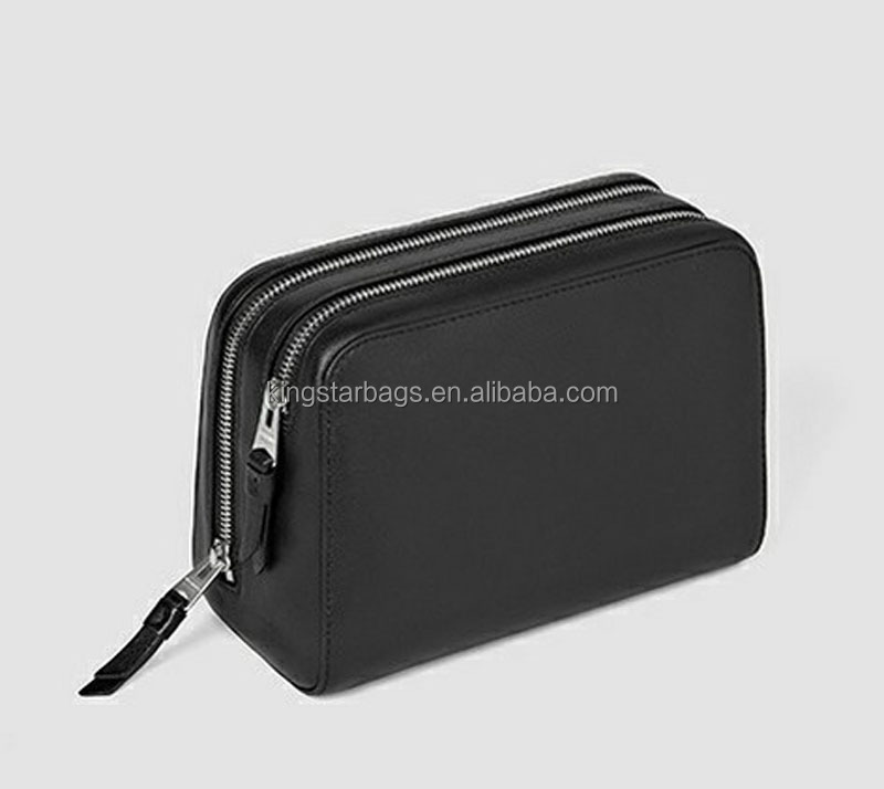 Black Leather Makeup Case