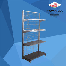 Used supermarket equipment metal display rack chrome wire shelving