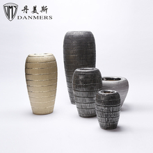 Factory price 5 pcs electroplate modern shaped handmade ceramic vases contemporary vase