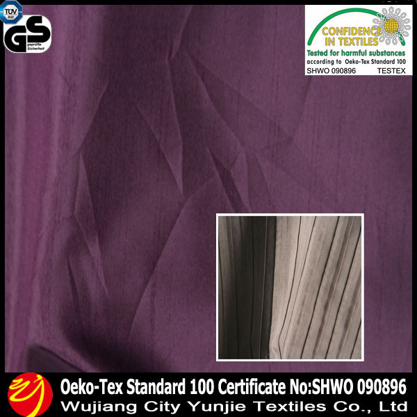 100% Ployester pinch pleat curtains & polyester shantung fabric