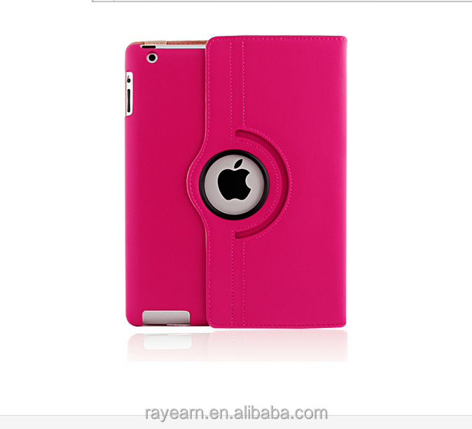 Smart Protect Case For iPad 2/3/4 With Rotatable Leather Cover New Arrival 2015