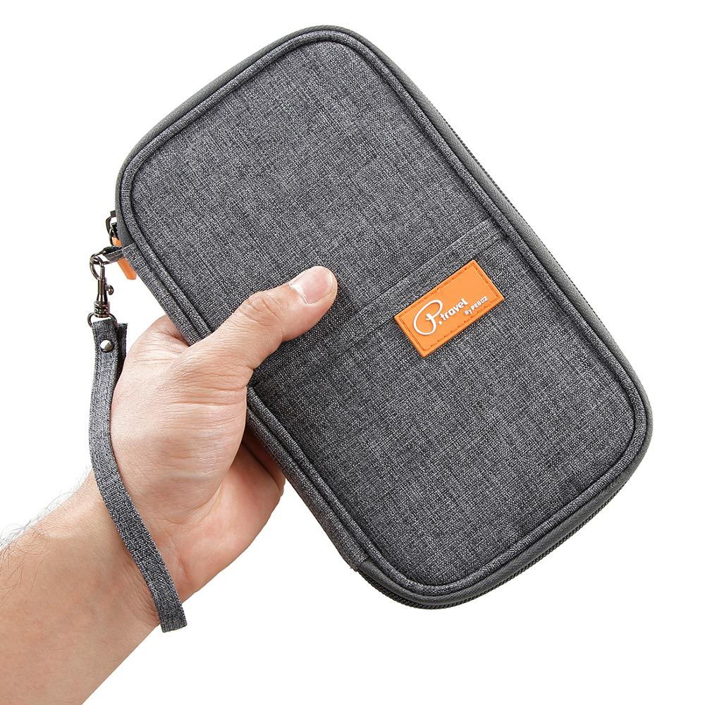 P.travel High Quality Fashionable Family Men Ladies Black Nylon Rfid Passport Holder Travel <strong>Wallets</strong>