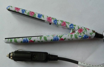 Hair straightener mini hair straightener for car
