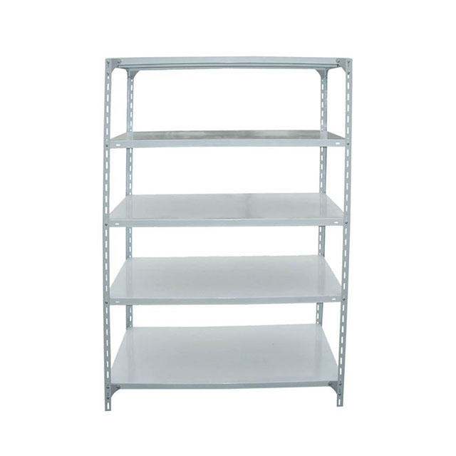 Industrial storage shelves stainless steel slotted angle shelving rack