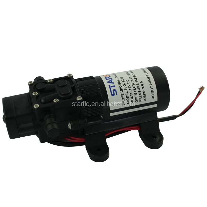 STARFLO FLO-2202 12v 3.8LPM 35PSI small electric water pump for water heater shower caravans