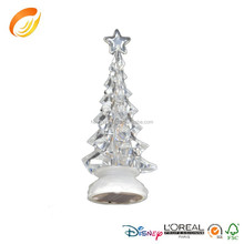 Festival choice clear acrylic christmas tree decoration multi-color led colors
