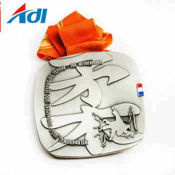 cheap wholesale die-cast custom award jiu-jitsu medal awards metal sports medal