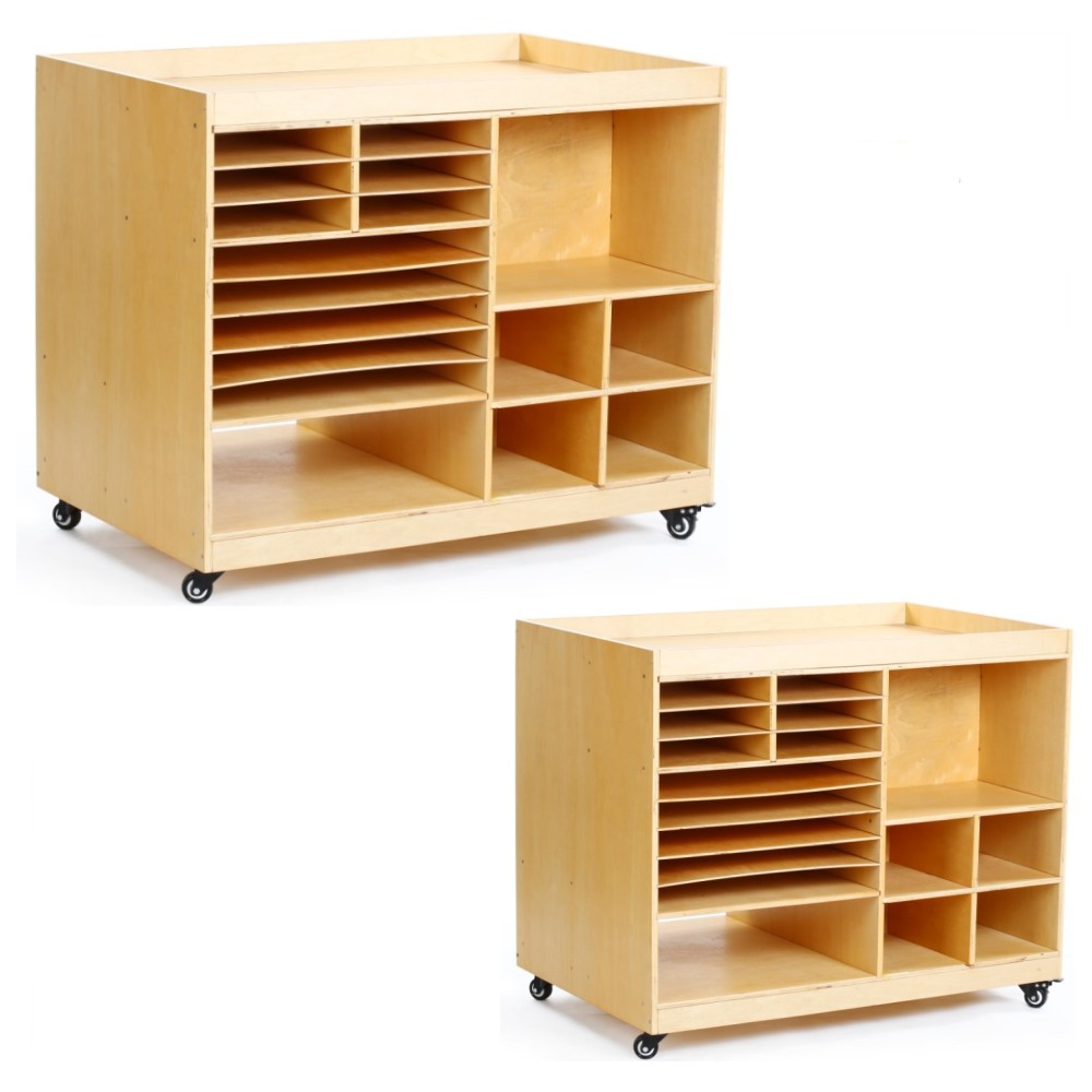 Hot popular durable multi-function movable double-sided wooden nursery classroom furniture school