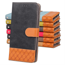 Wallet Flip Denim PU Leather & TPU Protective Phone Cover Case For Samsung S5