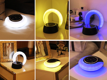 wireless smart music bluetooth led speaker with led light