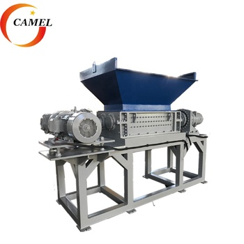 Dubbele as shredder machine/plastic shredding machine voor verkoop/hard plastic shredder