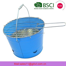 Wholesale colorful easy taking camping BBQ grill bucket/galvanized bbq bucket/Barbecue Bucket