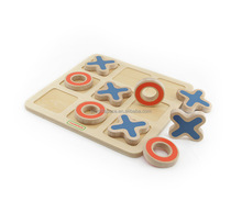 Wholesale Wooden Tic Tac Toe Game Pieces Travel Board XO Game Chess Game