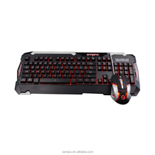 2018 New wired gaming backlight mouse and keyboard combo USB port connection for gamer