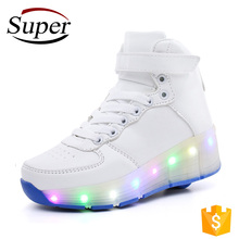 Wholesale Kids Flying Flashing Led 1 Wheel Skate Roller Shoes