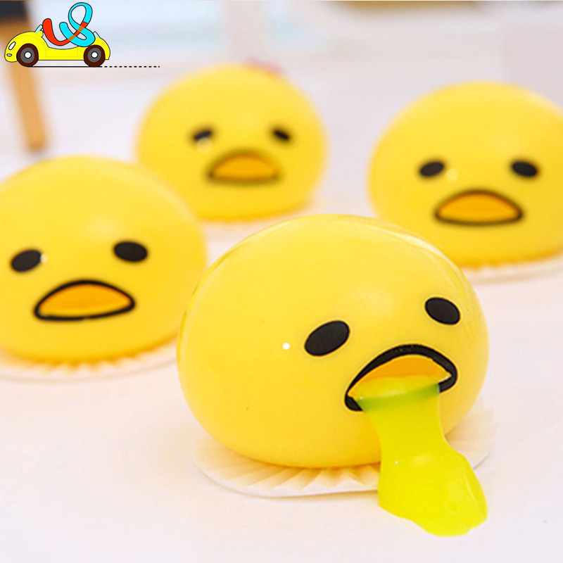 V&S manufacture squeeze funny tricky toys funny vomiting egg for anti-stress//