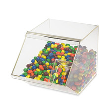 factory price nice quality supermarket usage clear candy bin acrylic
