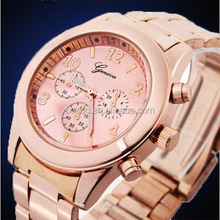 Woman Watches 2014 Clock Female Gold Watch Women Stainless Steel Quartz Wrist Watch Wristwatches Wholesale