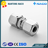 Free Sample Available Factory Supply Run Tee Hydraulic Fittings With Swivel Nut