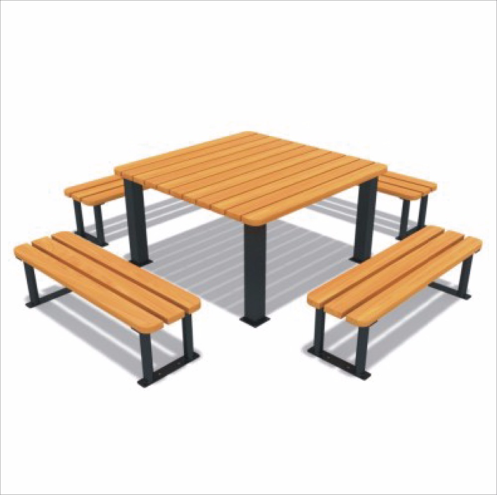 Park Seating Set Patio Seating Garden Seating one table with four benches set HLB-7118F