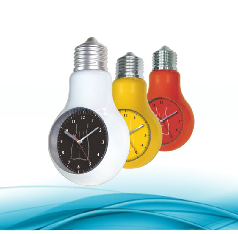 Sunny Hot Promotion Bulb Shape Unique Decorative Wall Clock