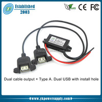 High effciency 12V to 5V 2A dc dc converter with USB port