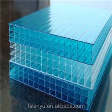 opaque flat polycarbonate hollow sheet four walls/layers pc sun board