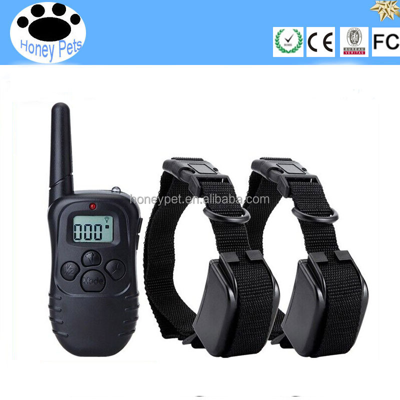 M82 Rechargeable and Waterproof LCD Dog Training Shock Collar with Remote Range up to 300 Meters for 2 Dog Training