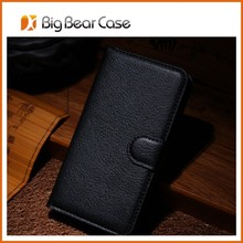 Wallet universal leather cover case for htc one x