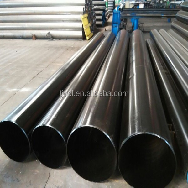 manufacture ASTM A53 ERW spiral low carbon black steel pipe for liquid service