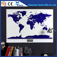 Promotional Christmas Gifts World Scratch Map