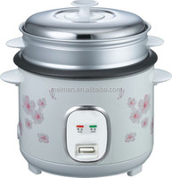 Straight-Housing Electric Rice Cooker, Without/With Steamer. Model R-15