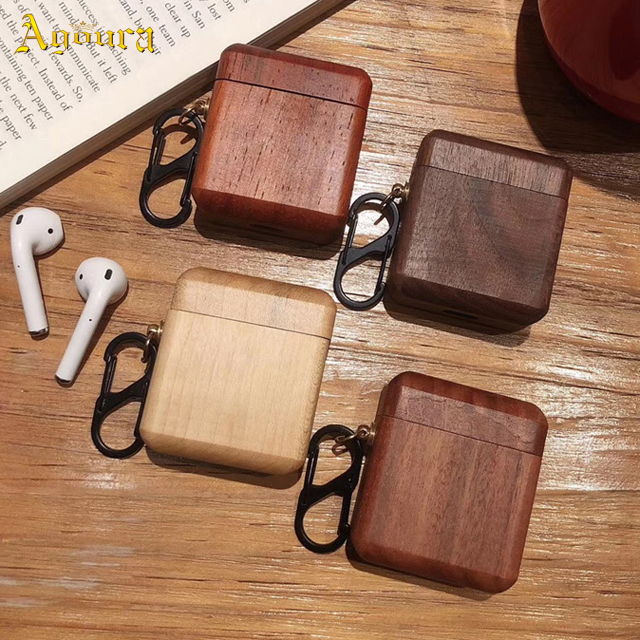 Solid wood earphone case for Apple AirPods1/2