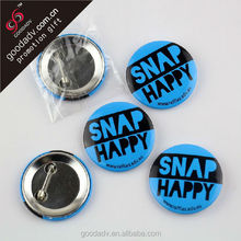 2014 new products custom design advertising tin badge / button badge pin