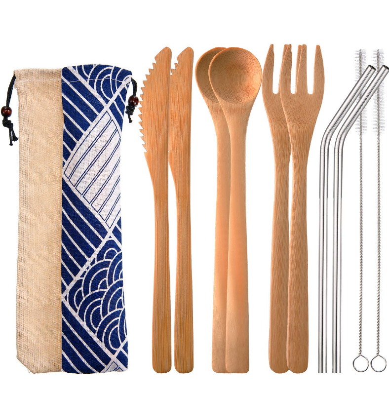 Eco-friendly Travel cutlery set bamboo cutlery