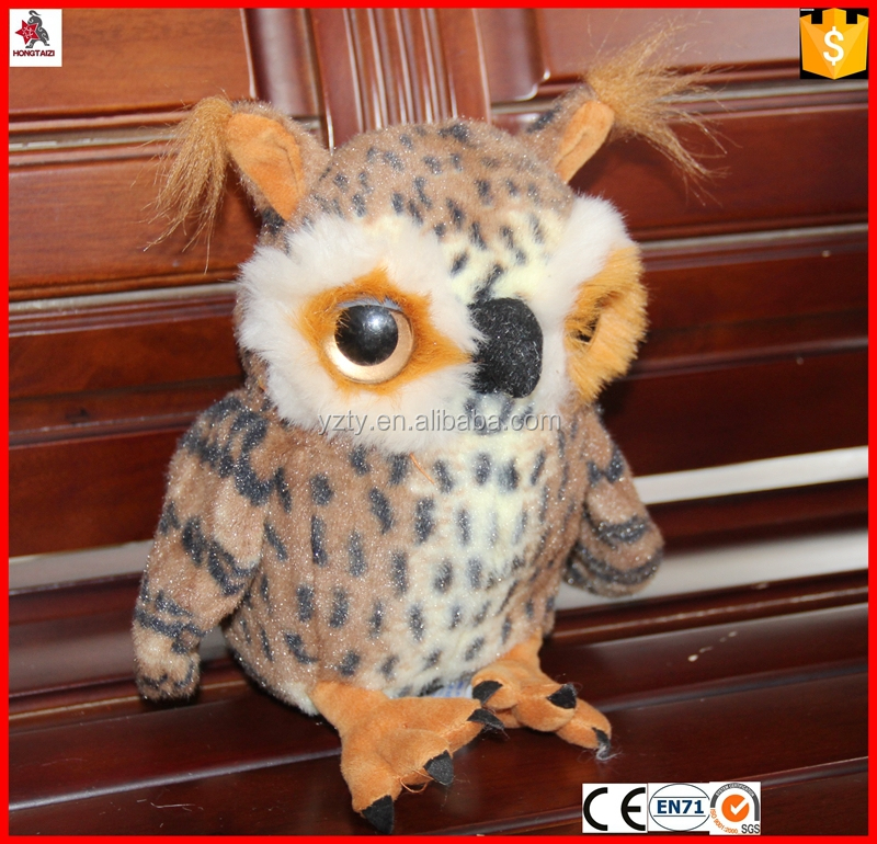 Custom Decorative talking owl toy with music