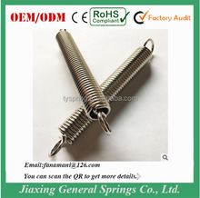 Custom high precision stainless steel extension spring with hook