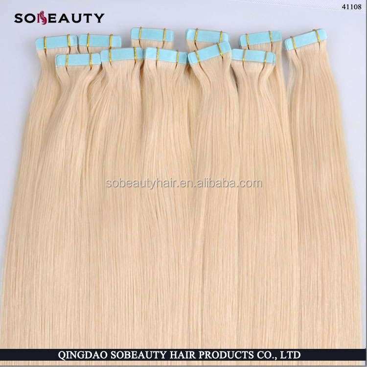 "Top quality 7A virgin peruvian tape hair 8""-30""inch cheap wholesale tape hair extensions"