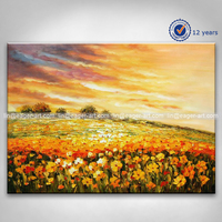Handmade Abstract Landscape Oil Painting on Canvas