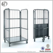 2015 hot selling wire mesh moving rolling cage cart for sale