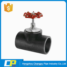 All size Pipe fittings lift gate valves handwheel rising stem HDPE stop valve