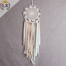 DLX-00044 18cm Chinese wholesale macrame wall hanging home decoration wall hanging handmade dreamcatcher crochet shivering lace