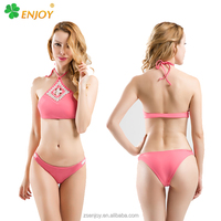 Fashion hot women sexy handmade high cup crochet swimwear brazilian bikini
