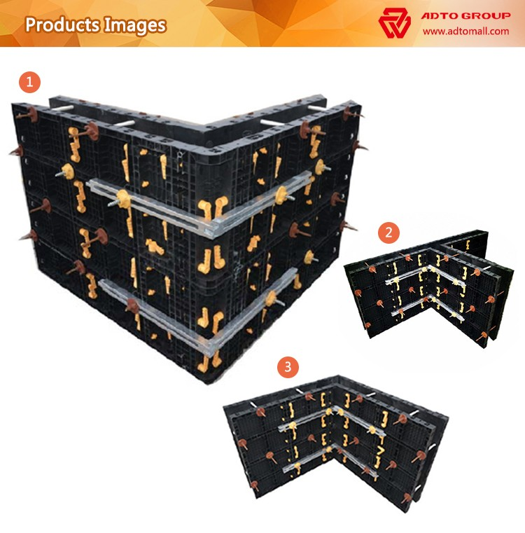 2017 new concrete replace traditional steel circular plastic plywood formwork